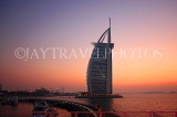 UAE, DUBAI, Burj al Arab Hotel, dusk sunset view, UAE323JPL