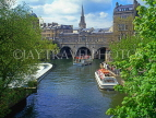 UK, Avon, BATH, River Avon and Pulteney Bridge, and cruise boats, BAT9626JPL