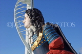 UK, Hampshire, PORTSMOUTH, Gunwharf Quays Spinnaker Tower and ship figurehead, UK6527JPL