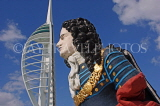 UK, Hampshire, PORTSMOUTH, Gunwharf Quays Spinnaker Tower and ship figurehead, UK6531JPL