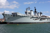 UK, Hampshire, PORTSMOUTH, HMS Illustrious aircraft carrier in harbour, UK6660JPL