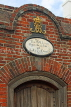 UK, Hampshire, PORTSMOUTH, Historic Dockyard, Victory Gate, wall plaque, UK6595JPL