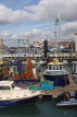UK, Hampshire, PORTSMOUTH, Spinnaker Tower and harbour fishing boats, UK6544JPL