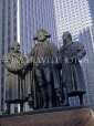 USA, Illinois, CHICAGO, Downtown, statues of Morris, Washington and Solomon, CHI754JPL