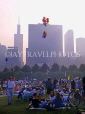 USA, Illinois, CHICAGO, Grant Park and Blues Festival crowds, Sears Tower and skyline, CHI760JPL