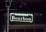 USA, Louisiana, NEW ORLEANS, French Quarter, Bourbon Street, street sign, LOU253JPL