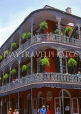 USA, Louisiana, NEW ORLEANS, French Quarter, architecture, ironwork balconies of Royal Cafe, LOU131JPL