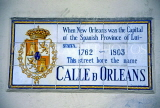 USA, Louisiana, NEW ORLEANS, French Quarter, original Spanish street names, tilework sign, LOU252JPL