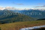 USA, Washington, Olympic National Park, snowcapped peaks and deer, US42578JPL