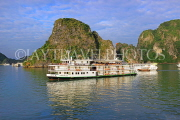 VIETNAM, Halong Bay, cruise boats and limestone formations, VT1864JPL