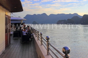 VIETNAM, Halong Bay, limestone formations,  view from cruise boat, VT1879JPL