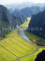 VIETNAM, Hang Mua (near Ninh Binh), Tam Coc River and rice fields, VT531JPL