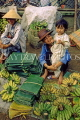 VIETNAM, Hoi An, Central Market, banana stall, vendor and child, VT400JPL