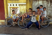 VIETNAM, Hoi An, children with bikes, posing, VT405JPL