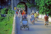 VIETNAM, Hue, bicycle traffic on gateway to the old city, VT306JPL