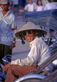 VIETNAM, Hue, man with conical hat and sunglasses, posing, VT305JPL