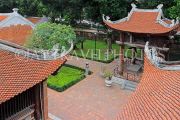 Vietnam, HANOI, Temple of Literature, fourth courtyard and roof tops, tile work, VT846JPL