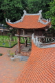 Vietnam, HANOI, Temple of Literature, fourth courtyard and roof tops, tile work, VT847JPL