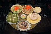 Vietnam, HANOI, Tet (New Year) traditional feast on meal tray, VT862JPL