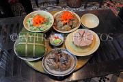 Vietnam, HANOI, Tet (New Year) traditional feast on meal tray, VT863JPL