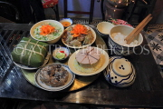 Vietnam, HANOI, Tet (New Year) traditional feast on meal tray, VT866JPL