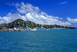 Virgin Islands (US), ST THOMAS, Charlotte Amalie, port and cruise ships, view from sea, CAR50JPL