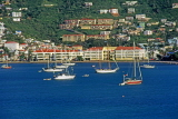 Virgin Islands (US), ST THOMAS, Charlotte Amalie, seafrotn and yachts, USV31JPL