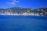 Virgin Islands (US), ST THOMAS, Charlotte Amalie, view from sea, CAR1332JPL