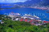 Virgin Islands (US), ST THOMAS, Charlotte Amalie harbour and cruise liners, CAR1173JPL